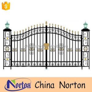 Simple iron gate design/sliding iron main gate design/garden iron gate design NT-WIB054