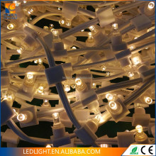 crystal PVC cable Outdoor use 12v low voltage replaceable LED clip lights LED Christmas string decoration lights for tree