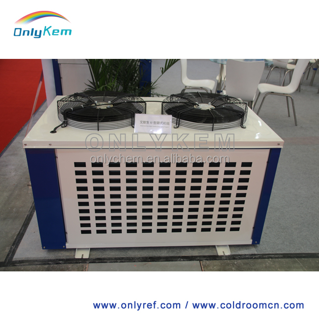 Air cooled condensing unit for refrigeration cabinet