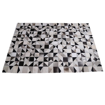 Natural Cowhide Rugs Hot Patchwork Cow Skin Carpet Atural Material Hand Hooked Rug 100 Leather