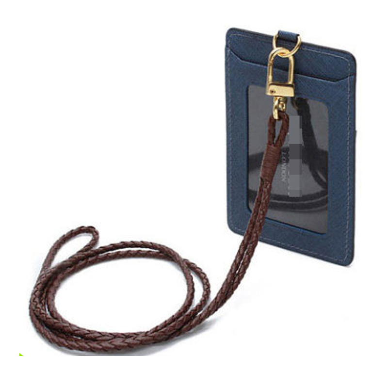 16342 Moda Sereno Faux Leather Bus Studente Dipendente Personale Società Collo ID Pass Card Badge Holder