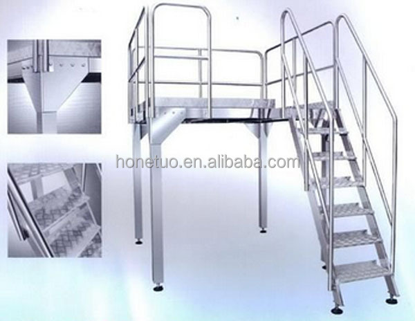Stainless steel Working Platform in Packing Line