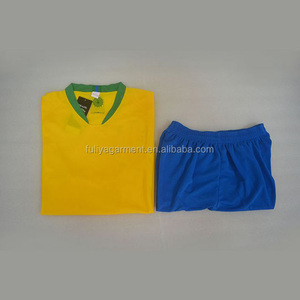 Top Quality Brazil Quick Dry Digitally Sublimation Soccer Uniform