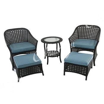 Diseño Original Terraza Chaise Lounge Silla Y Otomana Mimbre Al Aire ...