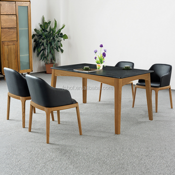 Solid Ash Dining Room Gl Table And Chairs Study Chair Ec005