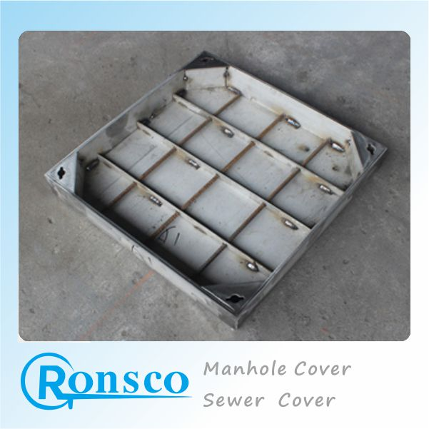 Custom Cast Stainless Steel Square Manhole Cover For Patio Drainage