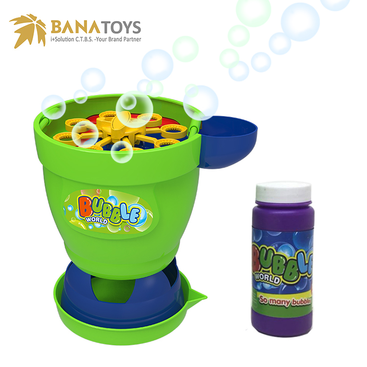 Super soap bubble maker machine toy for kids with blower fan