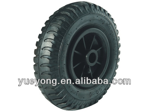 200mm pneumatic rubber wheel for trolley/plastic rim wheel/ air rubber tire