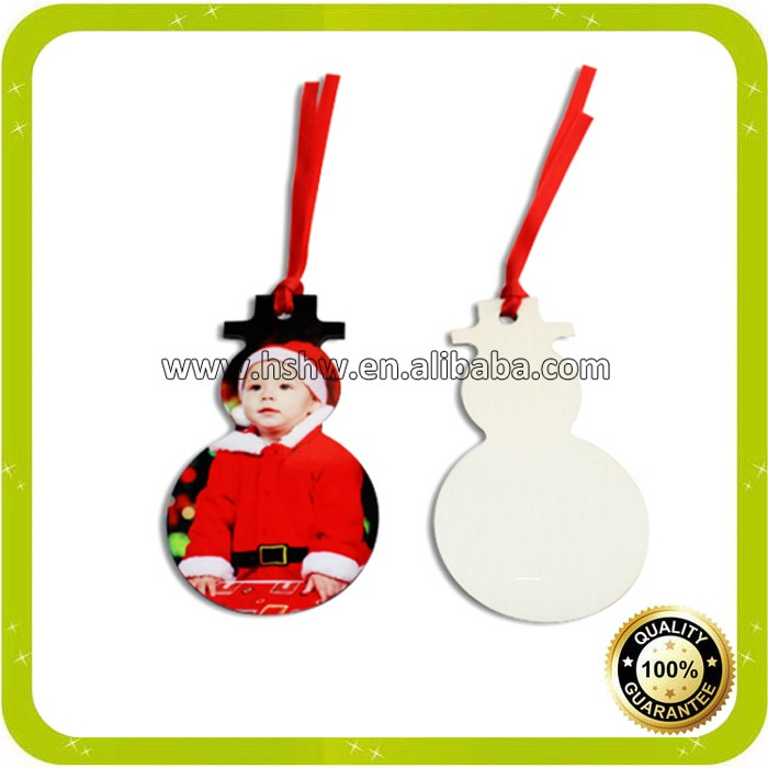 wood blank sublimation ornaments for <strong>christmas</strong>
