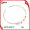 Fashion new arrival lady popular hot sale gold 18k diamond necklace design with pearl