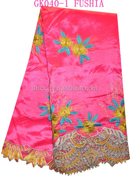 Gk040-1 Fushia Newest African Intorica African George Fabric For ...