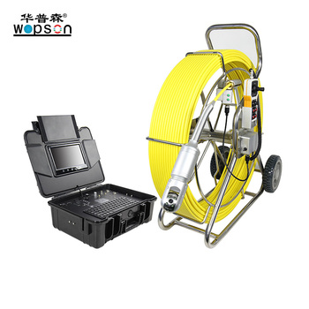 Push Cable Sewer Camera with Pan Tilt Camera DVR Recording for Drain Survey