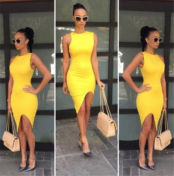 Yellow Club Dresses