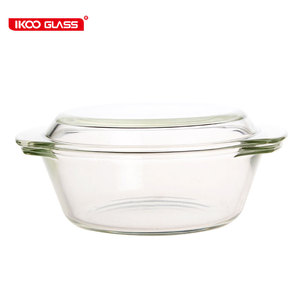 Microwave oven safe high resistant borosilicate glass casserole with dishes