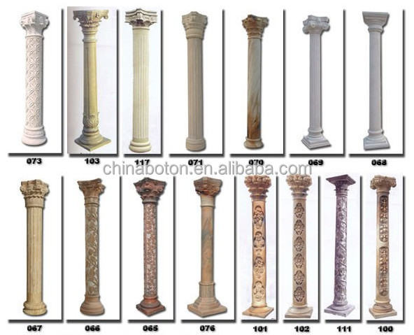 Types Of Roman Columns : Column shape and roman pillar type wedding table