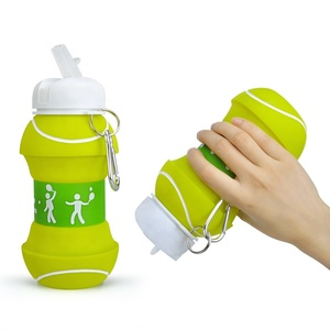 Tennis Shaped Portable Collapsible Patent Sports Bottle With Logo