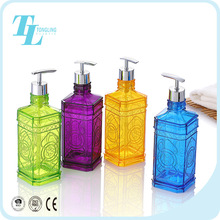 Beautiful design plastic shower gel container decorative refillable shampoo bottles