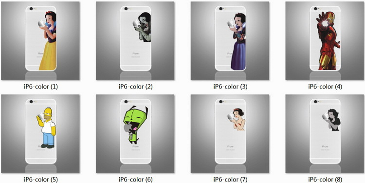 New Designs Unique Colorful Mobile Phone Decal Sticker for iPhone Sticker Skin for iPhone 6 7