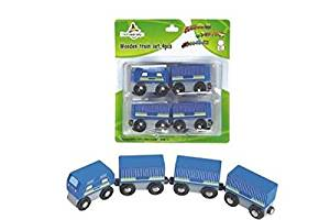 CHH Magnetic Freight Train Set in Blister Pack (4 Piece), Blue