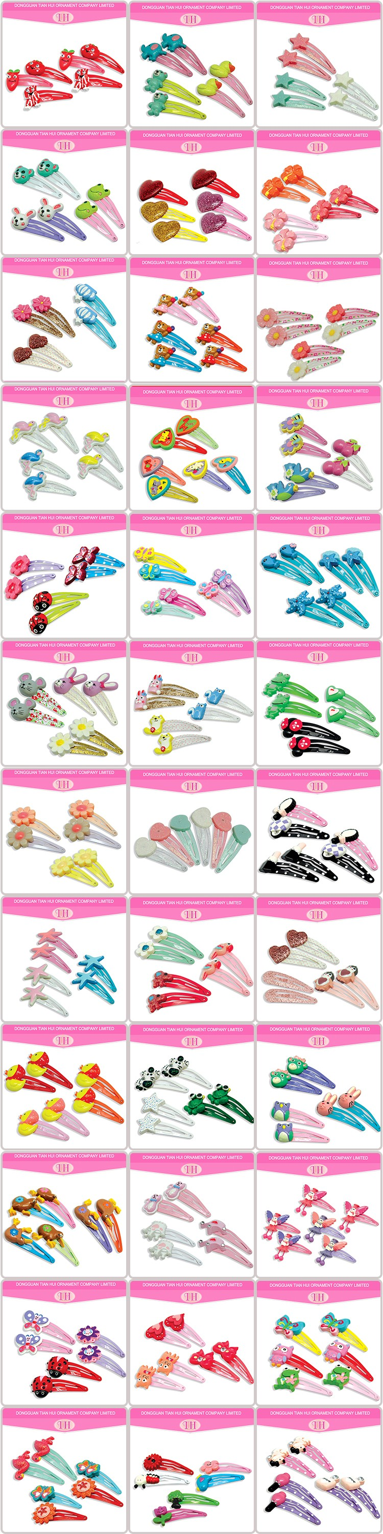 Hair accessories manufacturers - Wholesale Best Price Resin Material Custom Made Names Hair Accessories Manufacturers China