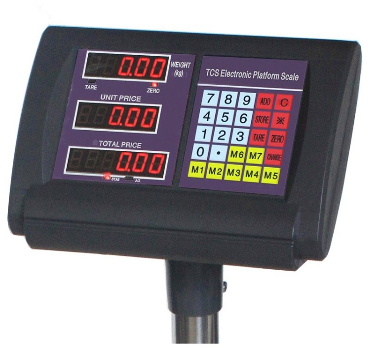 electronic price computing scale indicator with AC or DC Power supply