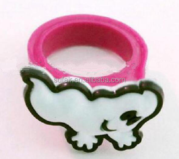 colorful children silicone finger ring rubber wedding ring
