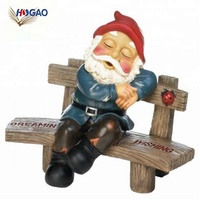 China manufacturers OEM figurines resin decoration miniature garden gnome for home lawn garden