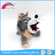 Customized lovely lifelike gray wolf stuffed plush toys
