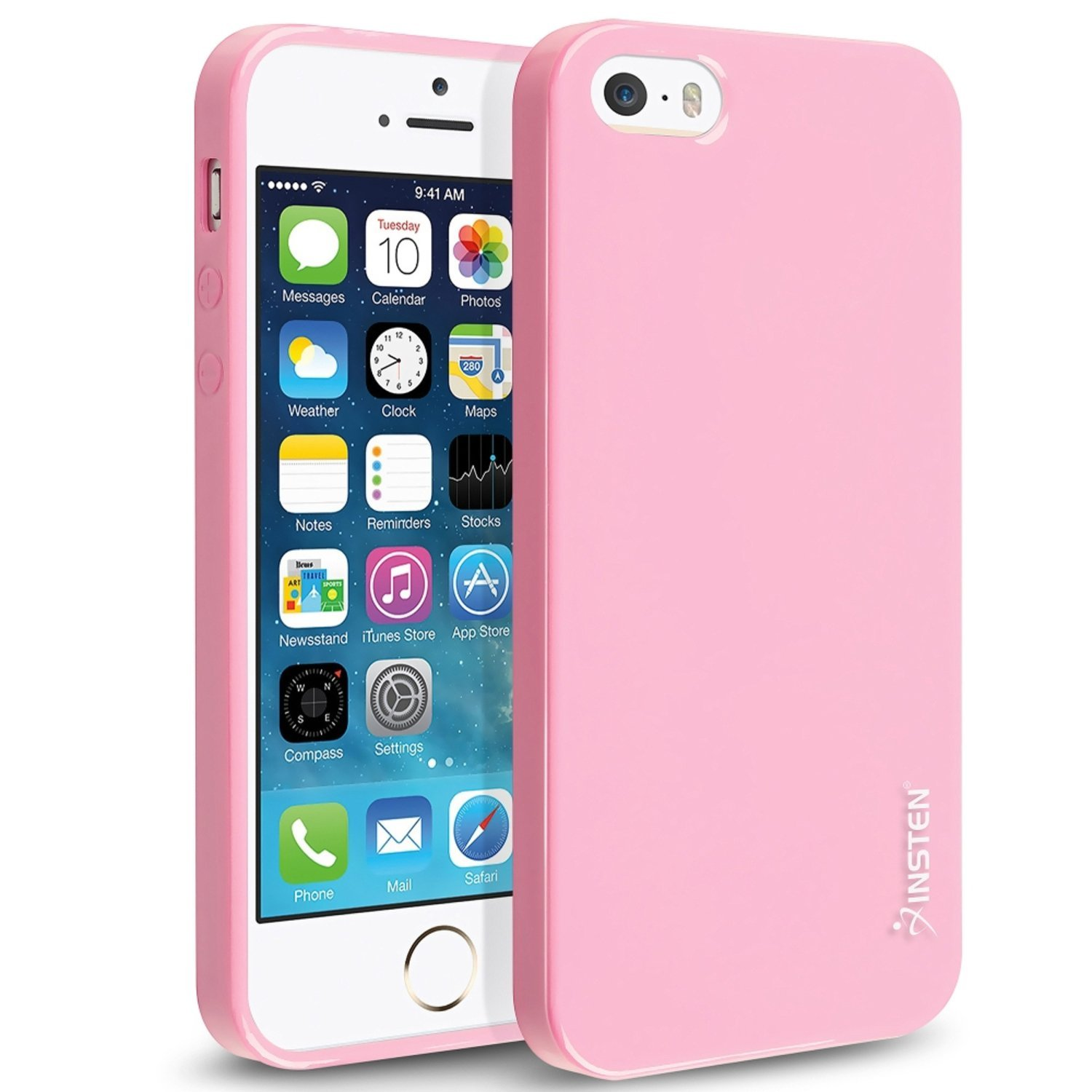 iPhone SE Case, Insten TPU Rubber Skin For Apple iPhone 5SE / 5S / 5 Case, Light Pink Jelly