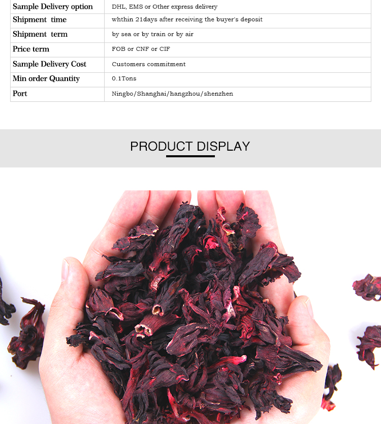Dried Hibiscus Natural Dry Roselle of Organic Dried Hibiscus in Organic Hibiscus Status - 4uTea | 4uTea.com