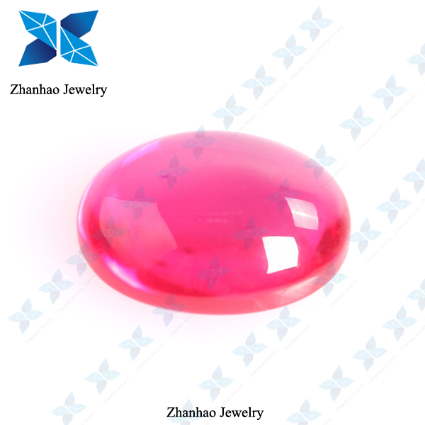 lab created corundum new red oval cabochon shape ruby price