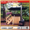 Family healthcare external burning heater wooden hot tub