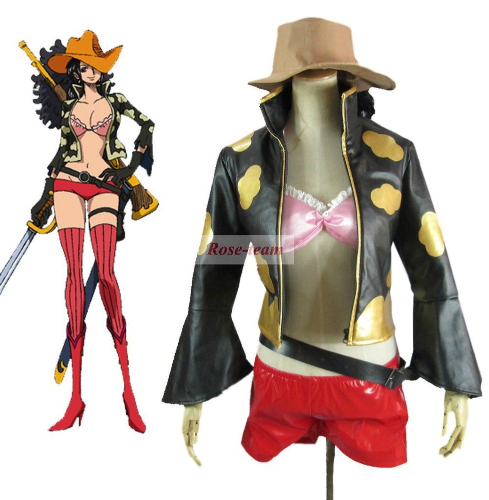Rose team-One Piece Film:Z Nico.Robin Anime Sexy Halloween Carnival Costume