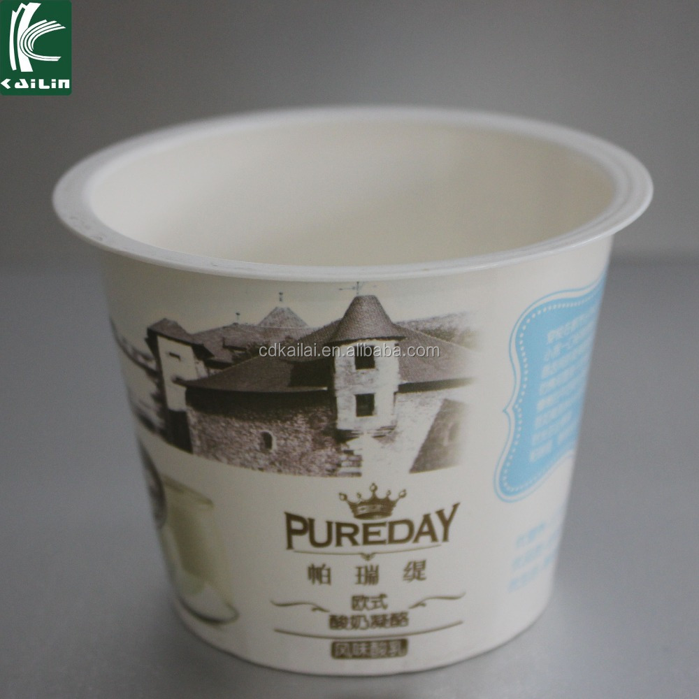 7oz paper material PS plastic yogurt packaging cups