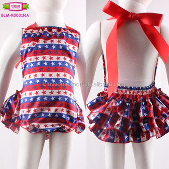 790721a757a Top quality new style baby clothes custom print romper satin kids baby  romper boutique July 4th