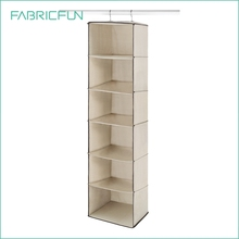 Non Woven Fabric Hanging Closet Accessory Shelf Storage Organizer Clothes Storage Shelf Organizer