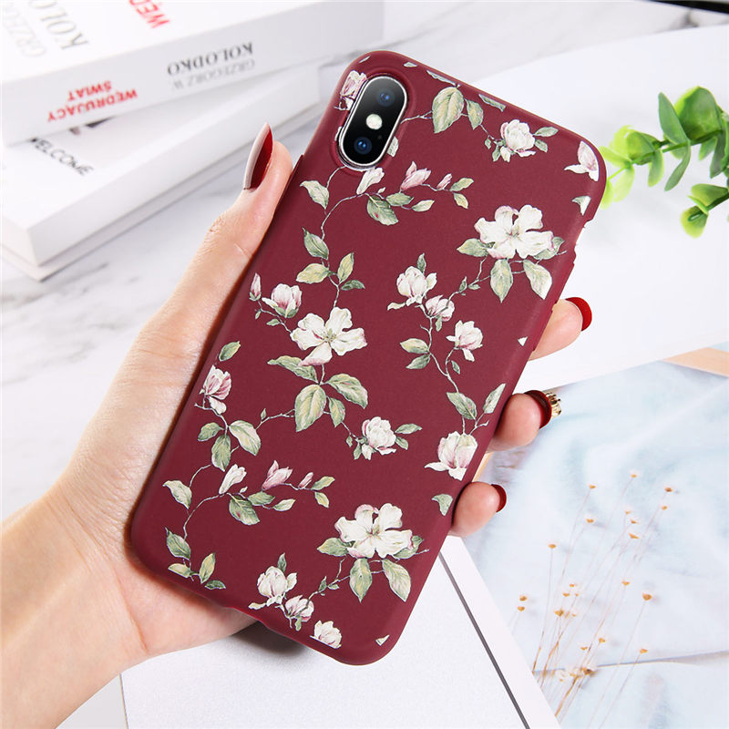 Чехол для телефона Moskado с красочными цветочными листьями для iPhone 11 Pro 7 8 6 6S Plus X XR XS Max 5S SE цветы Мягкий ТПУ силиконовый чехол(Китай)