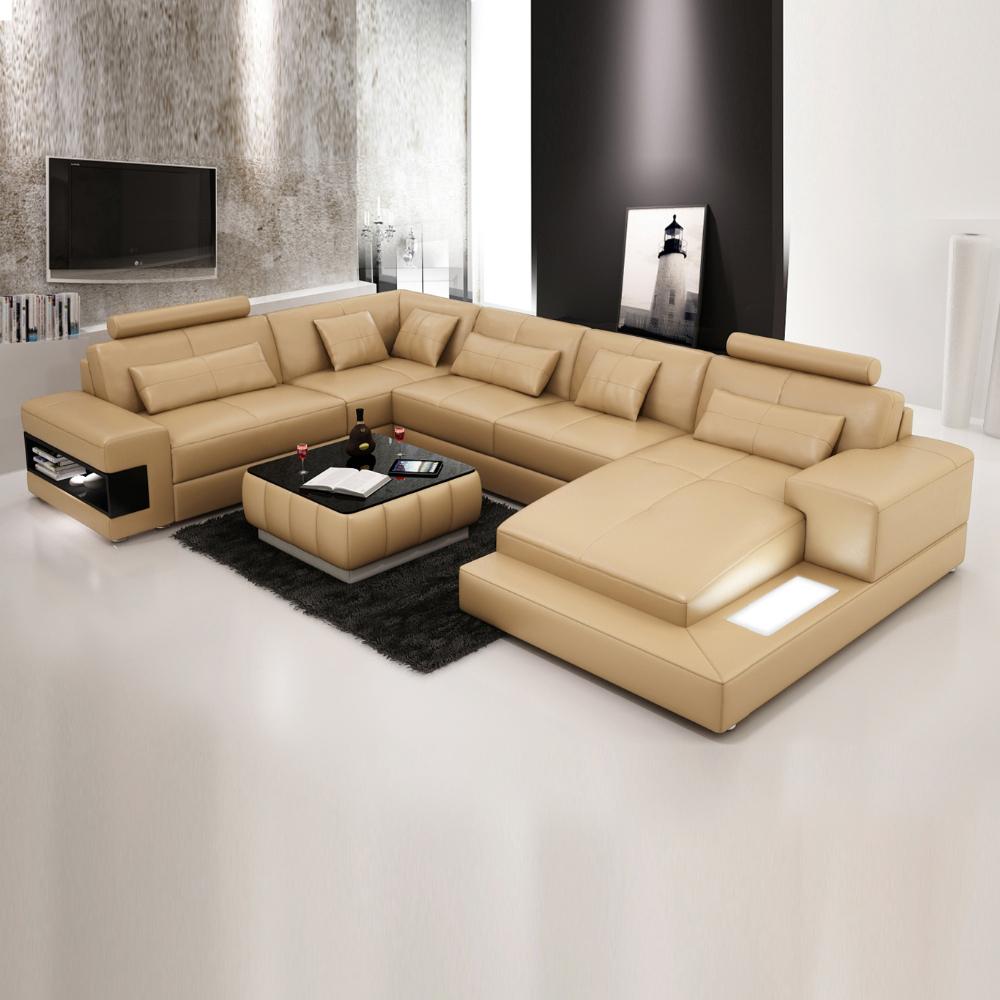 europa sof de cuero conjunto con patas de metal de color marrn modelo