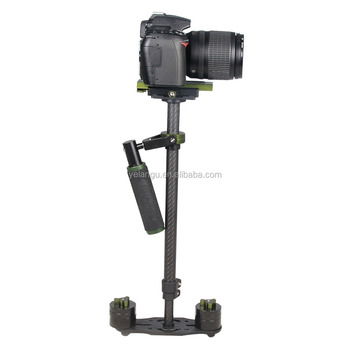 YELANGU 60cm Colorful Carbon Fiber Steadicam S60T With Adjustable Height in Green Color