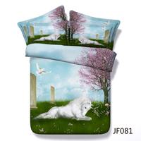 Magical Unicorn Land Childrens digital Print 3 bedding set