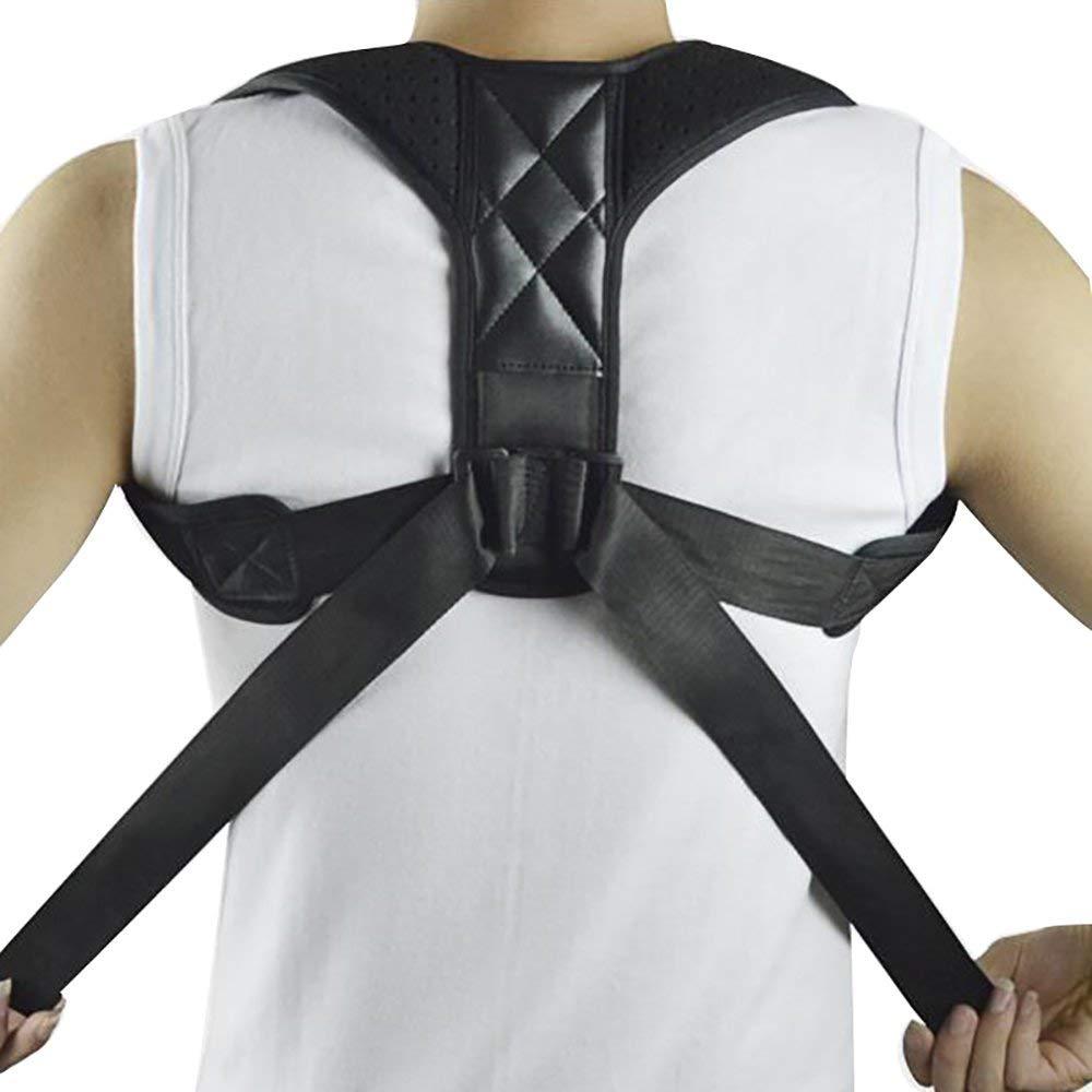 Enshey Back Support Back Posture Correction Belt Humpback Corrective Brace for Back Neck Shoulder Upper Back Pain Relief Perfect Posture Corrector Strap for Cervical Spine (XL)