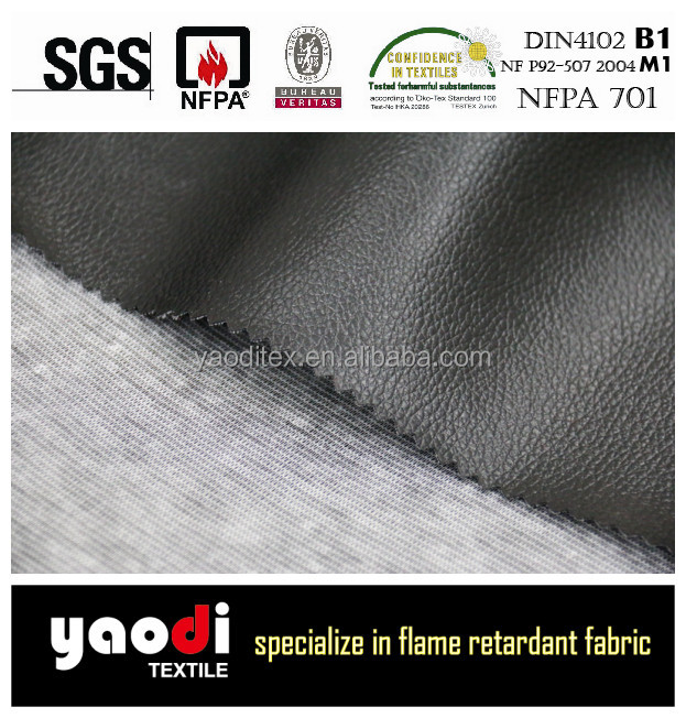 Wholesale Flame Retardant PU faux leather fabric for sofa