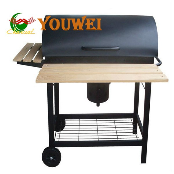 Powder coated commercial bbq meat smoker