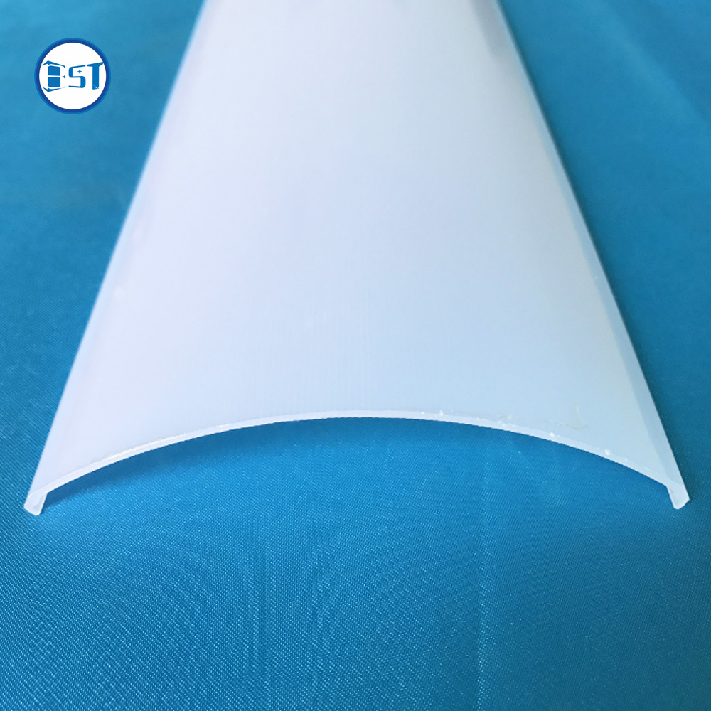 Semicircle milky white or opal LED strip light lampshade PC LED strip Light cover Customized linear slot diffuser