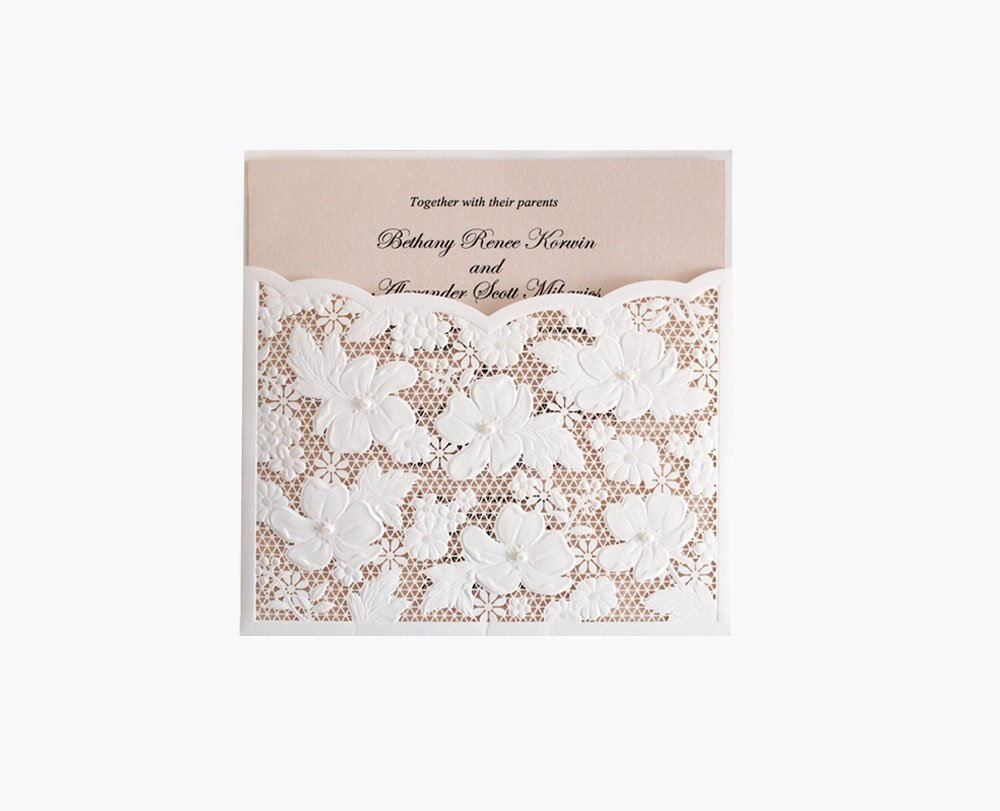 Buy Customized laser cut wedding invitation card,elegant printable ...