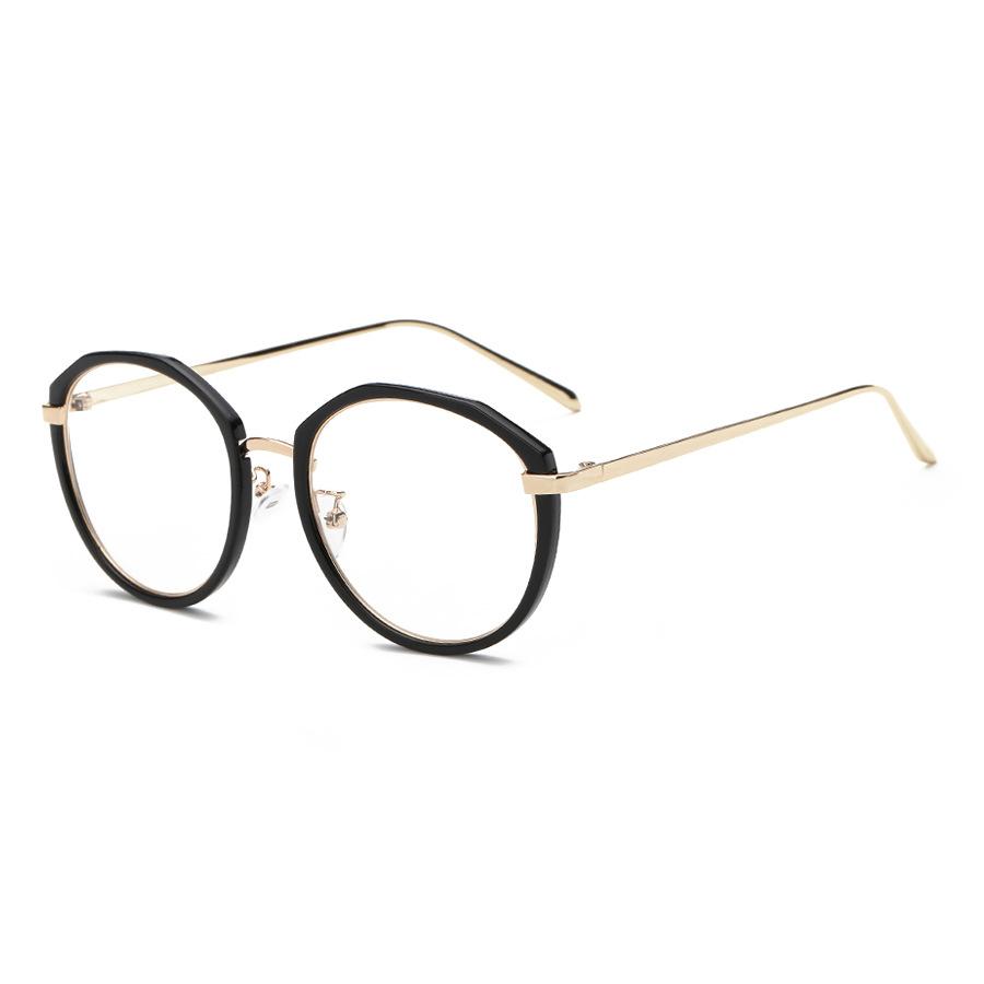 6335c04ec 2016 النساء نظارات معدنية كبيرة الإطار البصرية واضحة النظارات الطبية  النظارات المرأة النظارات البصرية إطار