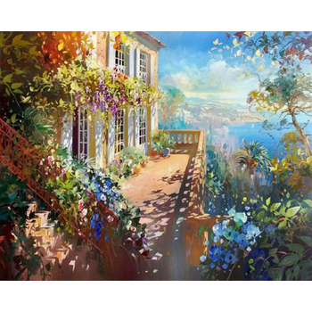 3D diamond art painting beautiful natural pictures photo wall scenery