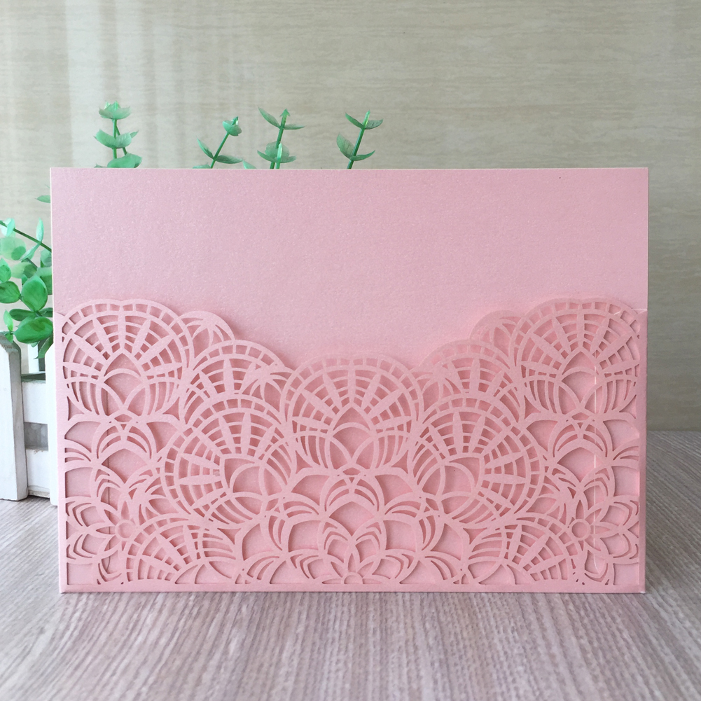 New Arrival Fan Shaped Pattern Wedding Invitation Card Event Party Supplies