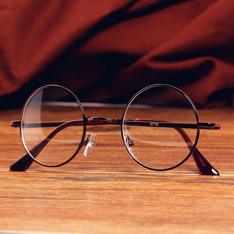 Al por mayor IVE gafas de lectura espejo redondo lente metal acero ...