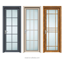 Competitive price 10 years warranty aluminum frame interior glass door for kitchen/bathroom